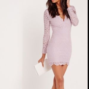 New Missguided lilac lace dress